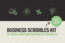 Business Scribbles Vector Kit