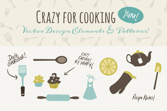 Vector Design Elements For The Cook
