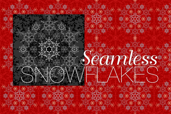 Seamless Snowflakes Pattern Tile