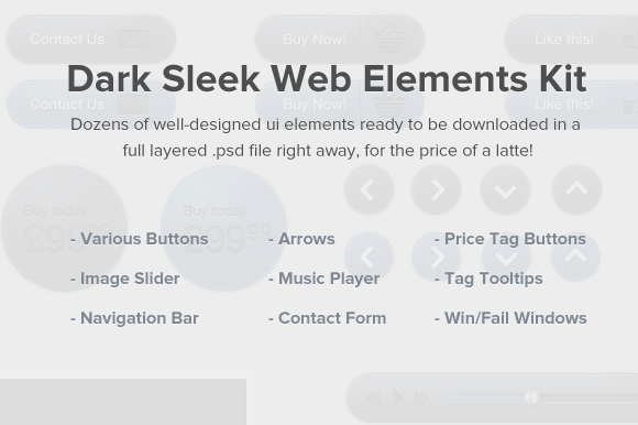Dark Sleek Web Elements