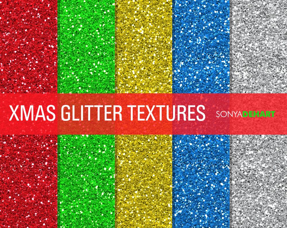 Christmas Glitter Textures Textures On Creative Market