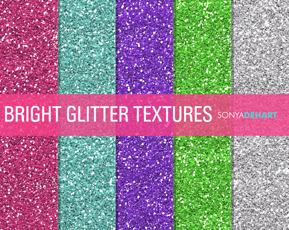 Bright Glitter Textures Textures On Creative Market