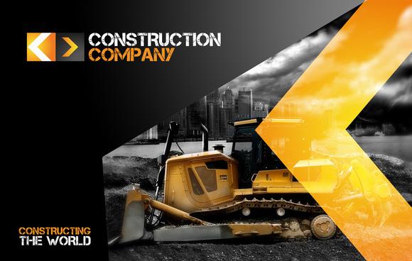 Rw Construction Company Identity Stationery Templates On