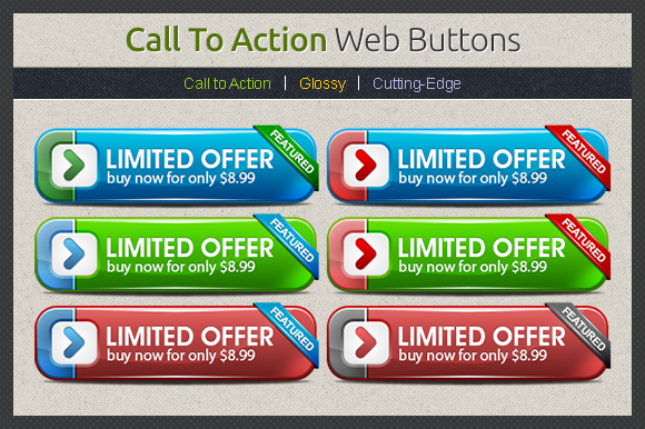 Call To Action Web Buttons