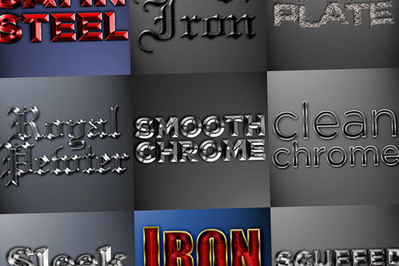 Metal Photoshop Styles Pack 2