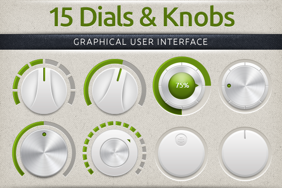 Subtle Dials Knobs User Interface