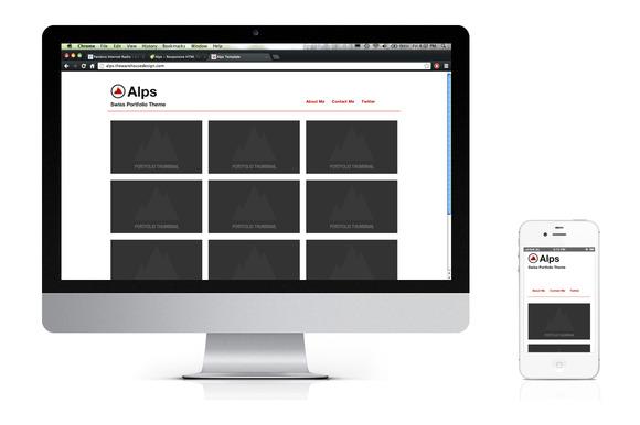 Alps Responsive HTML Template
