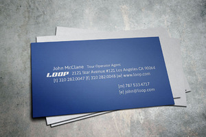 Loop Travel Tour Business Card