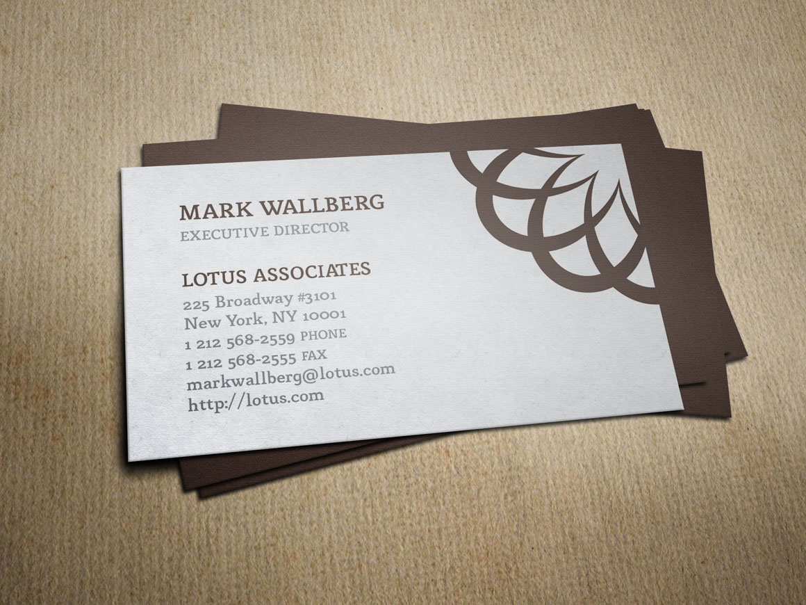 vintage law firm business card