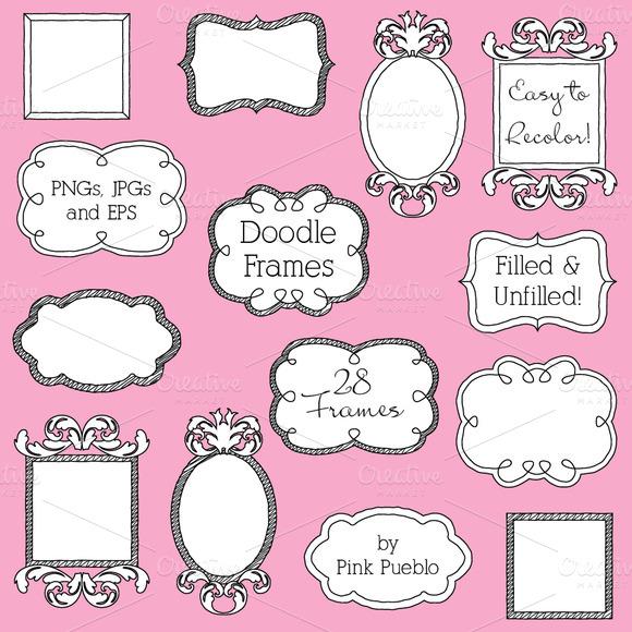 Doodle Frames Clipart And Vectors