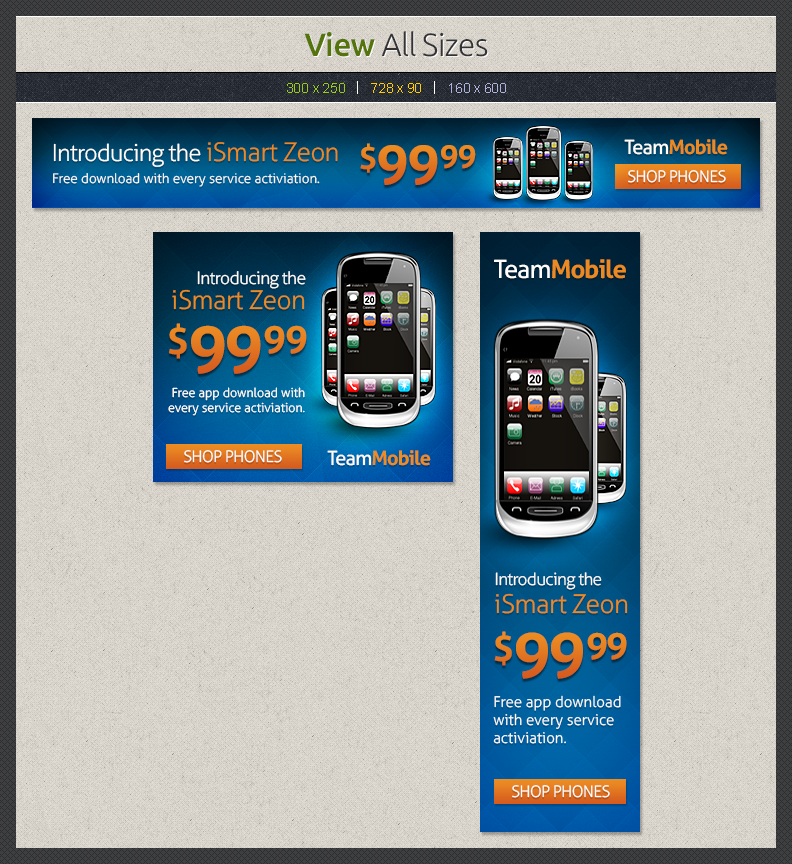 Cell Phone Web Banners Template   Web Elements on Creative Market f2AbqKoO