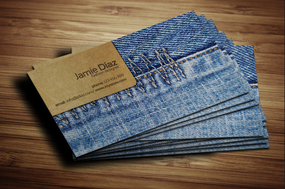 Jeans Card ~ Business Card Templates on Creative Market