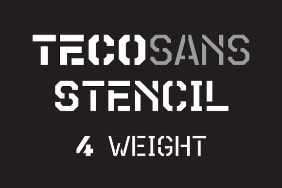 Teco Sans Stencil Complete