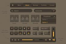 Smooth Dark UI Kit
