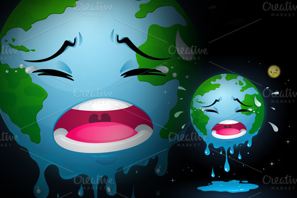 Crying Earth Illustrations On Creative Market