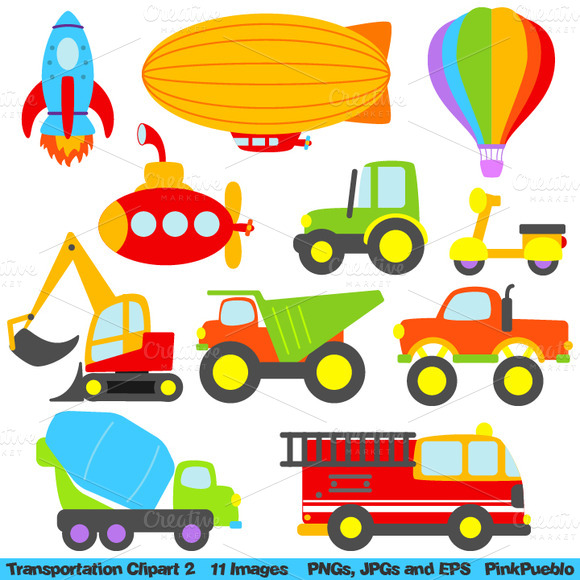 Transportation Vectors Clipart 2