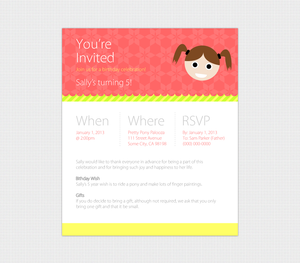 Birthday Evite Template  Web Only    Invitation Templates on Creative 68xsArJX