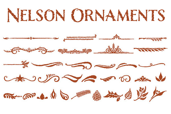 Nelson Ornaments ~ Symbol Fonts on Creative Market