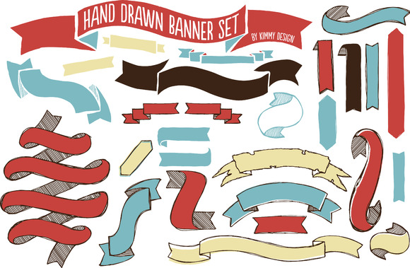 Hand Drawn Banner Set