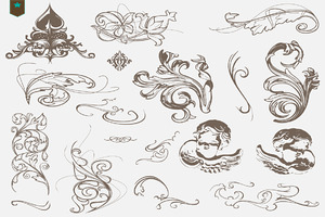 vector decorative swirls ornaments