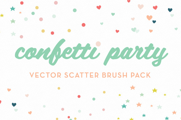 Confetti Party Scatter Brushes