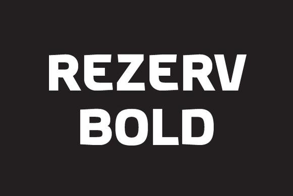 Rezerv Bold