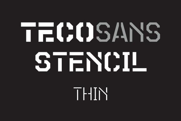 Teco Sans Stencil Thin
