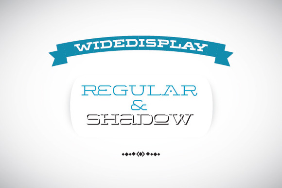 WideDisplay Regular Shadow