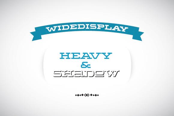 WideDisplay Heavy Shadow