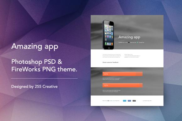 Amazing App Landing Page