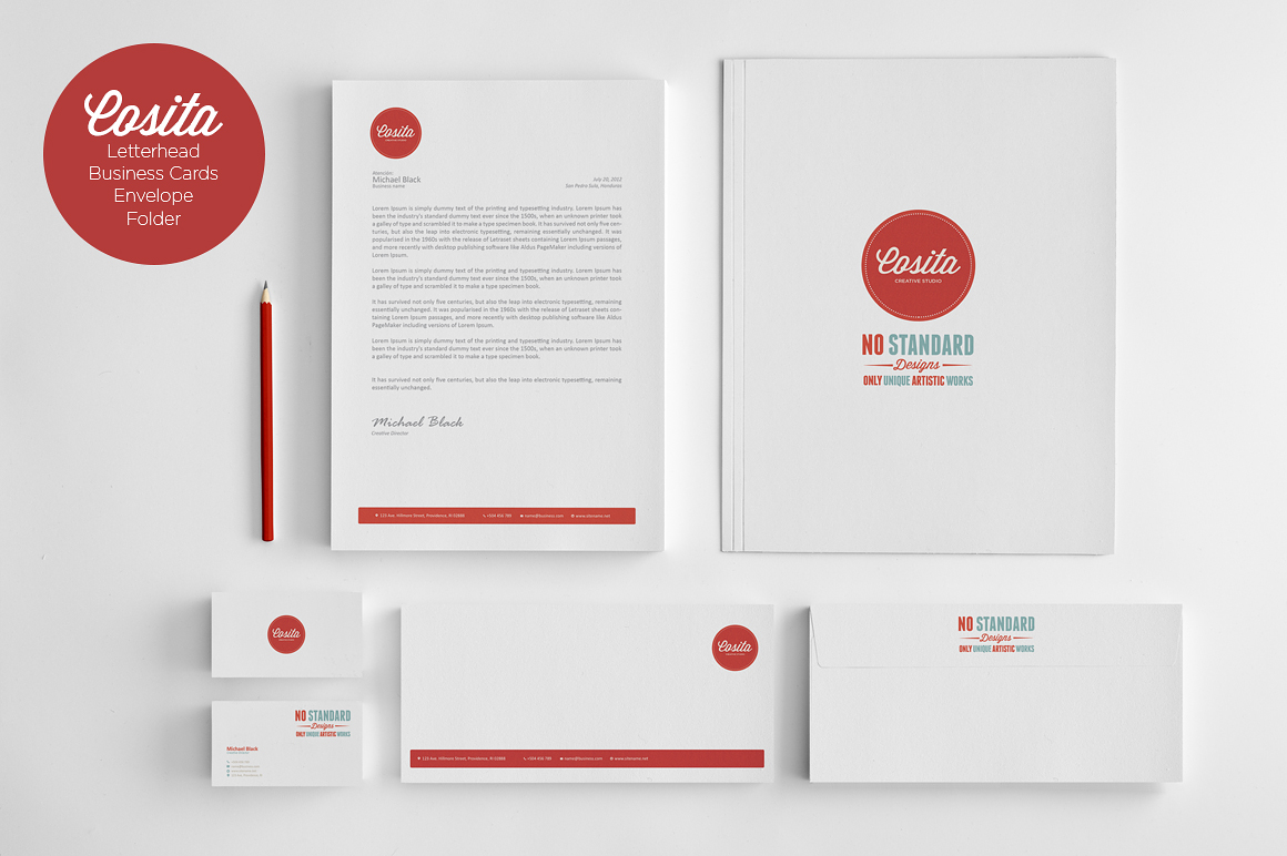 cosita corporate identity stationery templates on