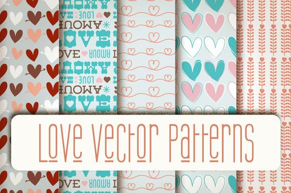 Love Vector Patterns