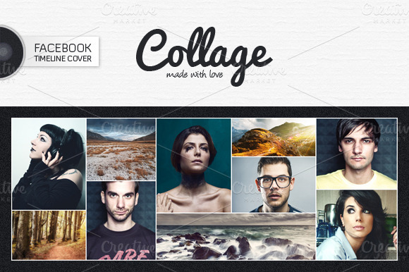 Facebook Cover Collage ~ Facebook timeline cover v presentation templates on