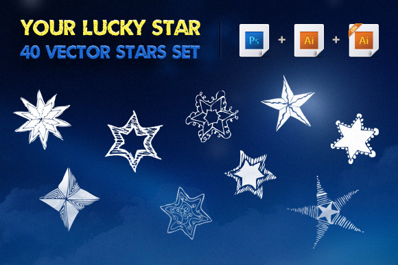 Your Lucky Star Vector Stars Set