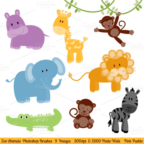 Zoo animals photoshop brushes brushes 1