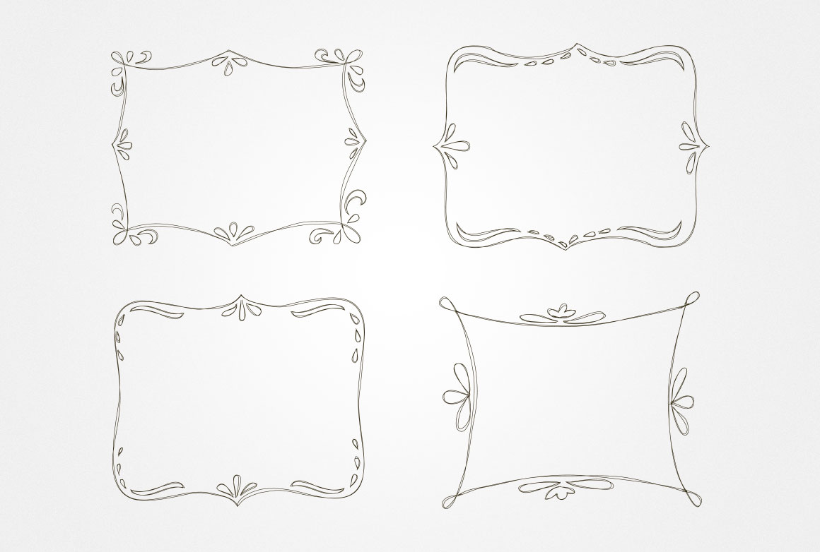 Hand Drawn Vector Borders and Frames ~ Illustrations on ...