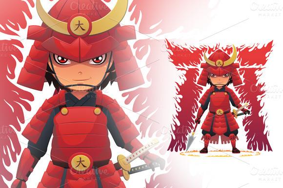 Red Armor Samurai