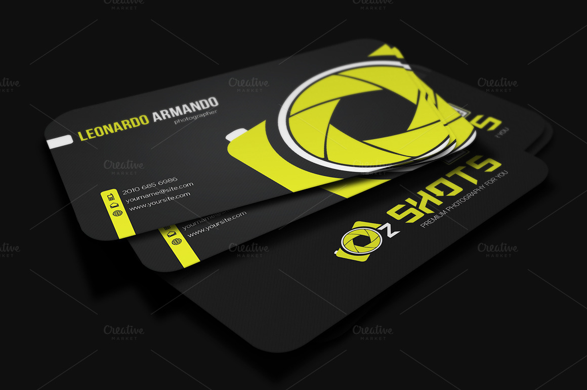 Photographer business card business card templates on for Best business cards for photographers