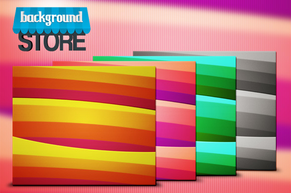 Retro Striped Background Texture