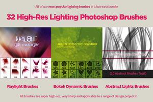 32 Varied Photoshop Lighting Brushes