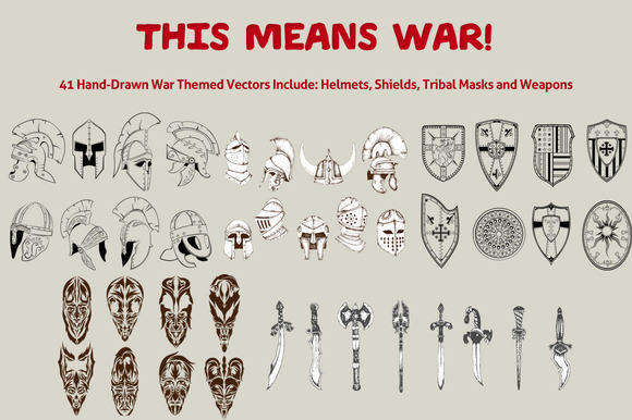 This Means War 41 War Theme Vectors