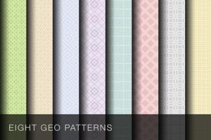 8 Geometric patterns + vector PSDs