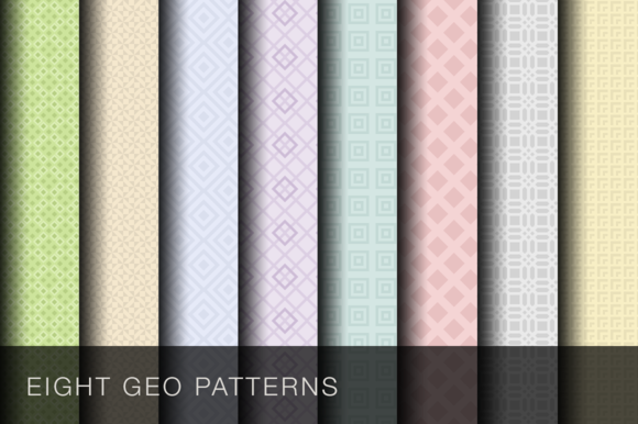 8 Geometric Patterns Vector PSDs