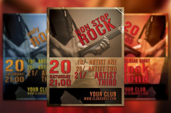 Non Stop Rock Flyer