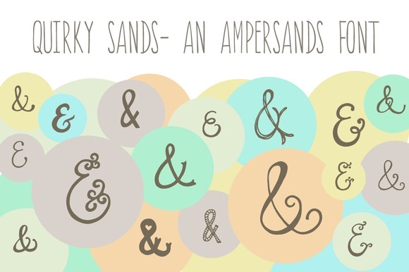 Quirky Sands- An Ampersand Font