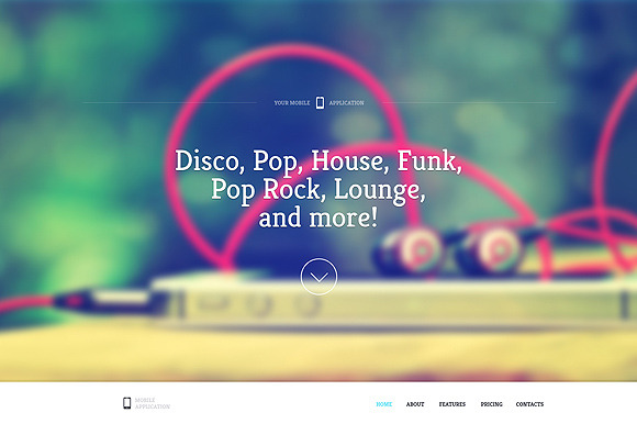 Sound One Page HTML Template