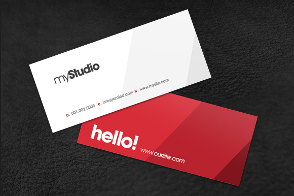 Modern mini card business card templates on creative market for Mini business card