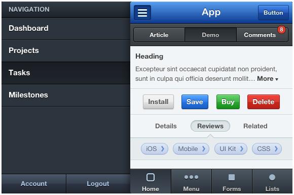 Mobile CSS UI Kit
