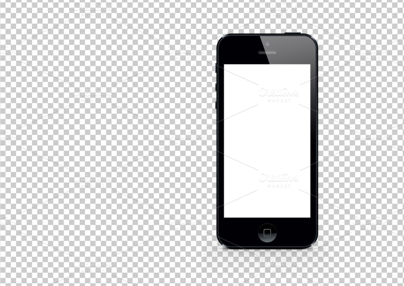 black iphone 5 mockup template