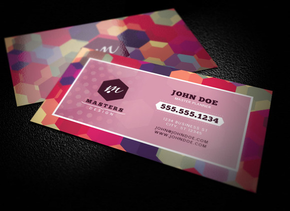 Bold Geometric Business Card Templat